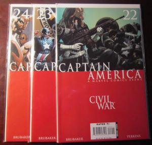 Captain America (2006-07 5th Series), SET:#22-24, VF