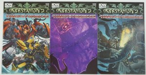 Infestation 2: Transformers #1-2 VF/NM complete series + variant - idw comics