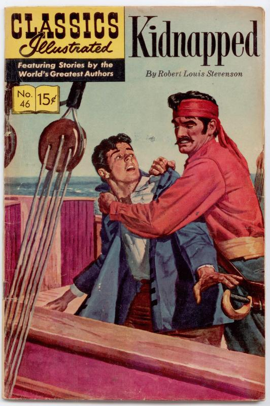 Classics Illustrated #46 HRN 167 - Kidnapped  VG/FN 5.0