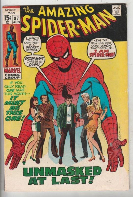 Amazing Spider-Man #87 (Aug-70) FN+ Mid-High-Grade Spider-Man