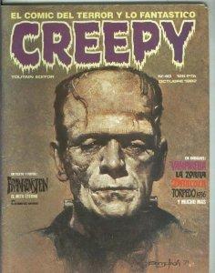 Revista Creepy numero 40: vampirella, Frankenstein, Dracula