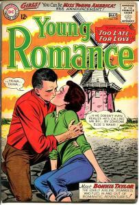 YOUNG ROMANCE #129 1964-DC ROMANCE-WINDMILL CVR-- FN