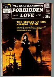 DARK MANSION OF FORBIDDEN LOVE #1-RARE DC ROMANCE/HORROR TITLE-UNIQUE! VG+