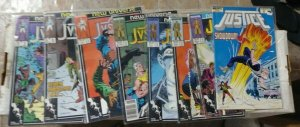 JUSTICE  # 5 6 7 8 9 11 12 24  1987 new universe marvel