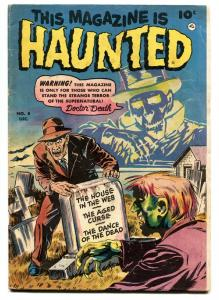 THIS MAGAZINE IS HAUNTED  #8 1952-FAWCETT-WEIRD MENACE-PRE-CODE HORROR-DEATH vg+