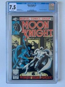 MOON KNIGHT #3 1st App of Midnight Man (1980 Series)  - CGC 7.5