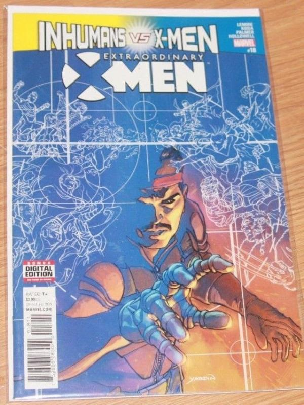 Extraordinary X-Men #18 (March 2017, Marvel) old man logan inhumans vs xmen