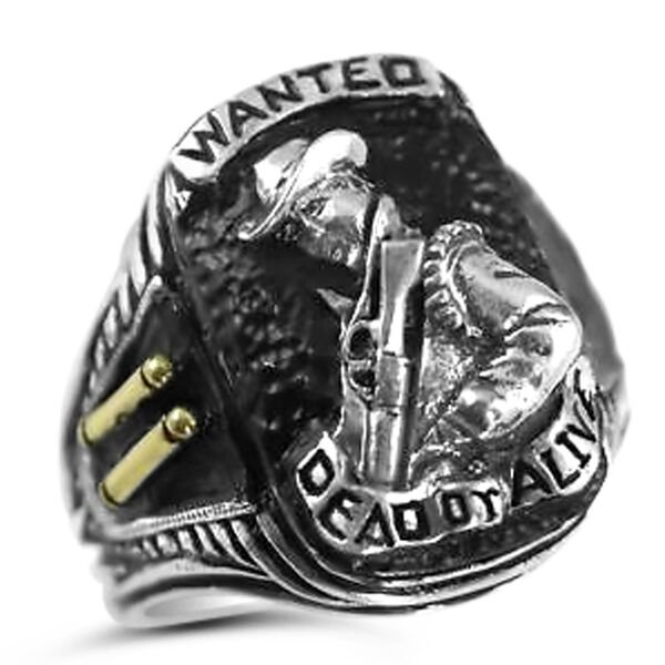Bounty Hunter ring,Wanted Dead or Alive