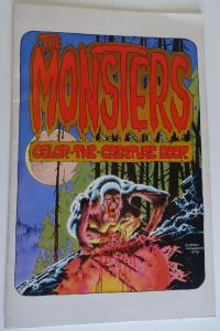 The MONSTERS COLOR the CREATURE BOOK, FN, Bernie Wrigthson, Berni, 11x17, 1974