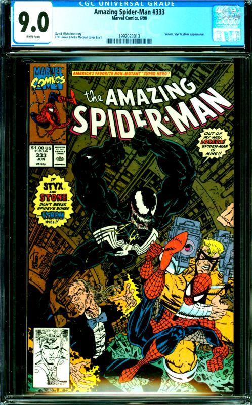 Amazing Spider-Man #333 CGC Graded 9.0