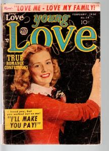 YOUNG LOVE #54-1954-PRODUCED BY SIMON & KIRBY-PHOTO COVER-PRIZE-fair