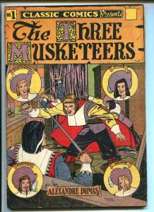CLASSIC #1-GILBERTON HRN 28-THE THREE MUSKETEERS-vf minus