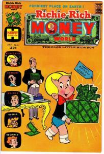 RICHIE RICH MONEY WORLD (1972-1982) 6 FN-  July 1973