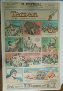Tarzan Sunday Page #612 Burne Hogarth from 11/29/1942 in Spanish! Full Page Size