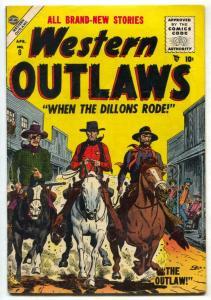 Western Outlaws #8 1955- Dillon Gang- Heath cover VG/F