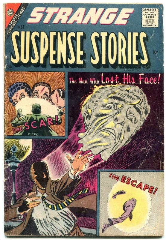 Strange Suspense Stories #34 1957-STEVE DITKO- Charlton horror VG