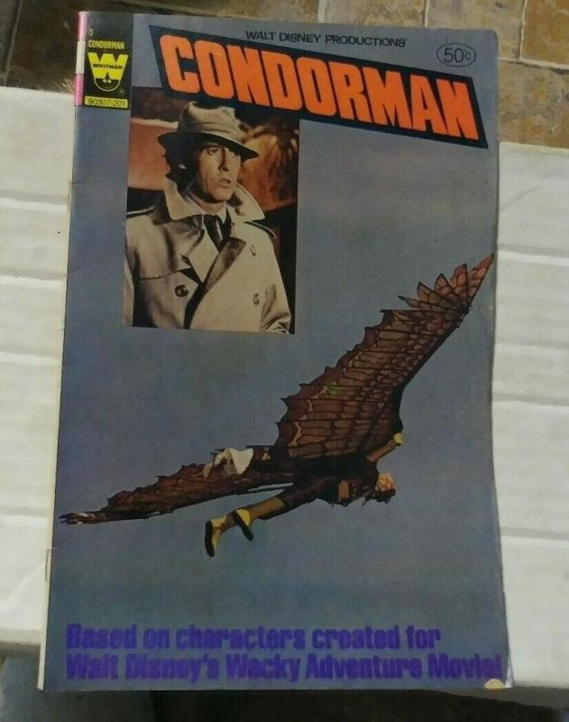 condorman #3  1981 whitman comics  walt disney movie based hero