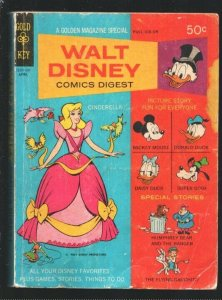 Walt Disney Comics Digest #10 1969-Cinderella-Carl Barks art-Donald Duck-Mick...