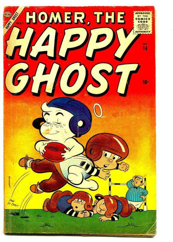HOMER THE HAPPY GHOST #14 1958-DAN DECARLO-FOOTBALL COVER-VG