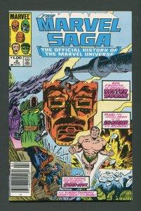 Marvel Saga #3 / 9.4 NM  Newsstand  February 1986