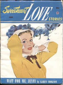 SWEETHEART LOVE STORIES #1--1952--ROMANCE PULP FICTION--RARE--NEW COLLECTION