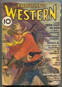 Thrilling Western Pulp July 1937- Terror Stalks the Range G