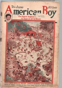 American Boy 6/1919-Harrison Cady cover-adventure-pulp fiction-bike ads-FR