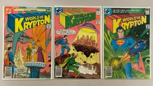 World of Krypton set from:#1-3 1st Series all 3 different books 6.0 FN (1979)