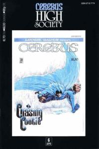 Cerebus High Society #6 VF/NM; Aardvark-Vanaheim | save on shipping - details in