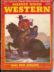 Masked Rider Western 12/1952-Thrilling-Secret Identity pulp hero-VG