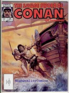 SAVAGE SWORD of CONAN #129, FN, Kull the Conqueror, Doug Beekman