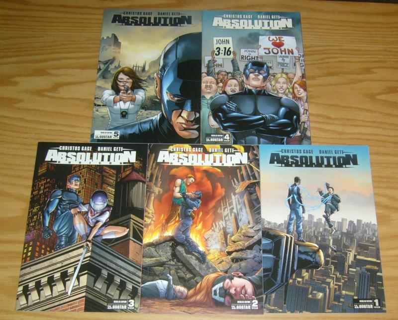 Absolution: Rubicon #1-5 VF/NM complete series - christos gage - avatar press