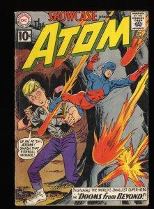Showcase #35 VG- 3.5 2nd Silver Age Atom!