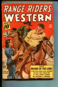 RANGE RIDERS WESTERN-FALL 1948-THRILLING-3 MUSKETEERS OF CATTLE COUNTRY-fn/vf