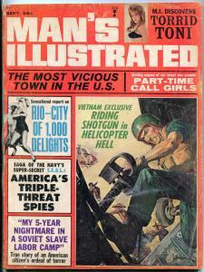 Man's Illustrated Magazine September 1965-GEORGE GROSS-VIETNAM   G