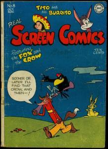 Real Screen Comics #8 1946- Fox & Crow- DC funny animals G+
