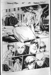 Uncanny X-Men #25 Page 23- Original Comic Book Art 2013-Bachalo-Al Vey-Prof X-FN