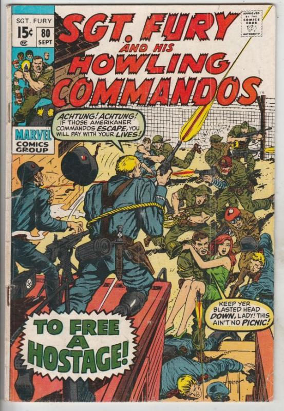 Sgt. Fury and His Howling Commandos #80 (Sep-70) VG+ Affordable-Grade Sgt. Fu...
