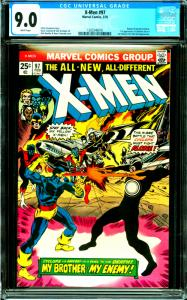 X-Men #97 CGC Graded 9.0 Return of Havok and Polaris