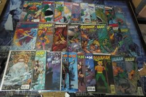 Big ol'Aquaman lot! 1991-2007 29 books! VF/+Peter David,Larson,Busiek,Guice,hook