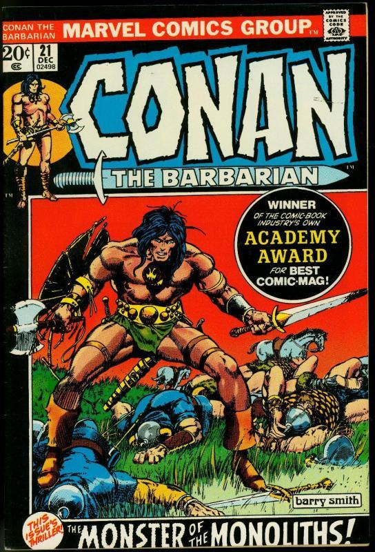 CONAN THE BARBARIAN #21-BARRY SMITH VF