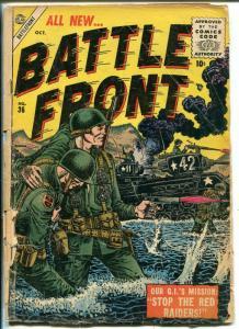 BATTLE-FRONT #36 1955-ATLAS-CIVIL WAR-COMMIES-JACK KATZ-pr/fr