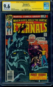 The Eternals #1 1976 CGC SS 9.6 OW/W Signed by Stan Lee! Movie Coming! Not 9.8