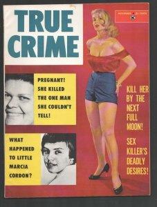 True Crime 11/1959-Skye-Return The White Slavers-Violent crime stories pulp...