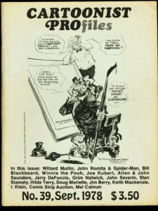 CARTOONIST PROFILES #39-1978-SPIDER-MAN-WILLARD MULLIN FN