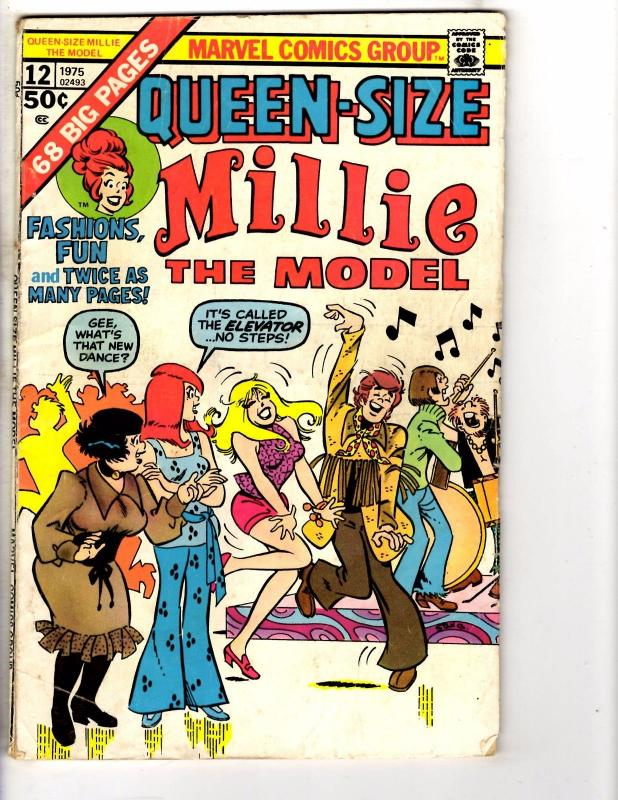 Queen Size Millie The Model # 12 VG Marvel Comic Book Bronze Age 1975 J224