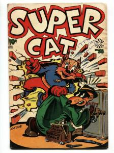 SUPER CAT #58-last issue-L.B. Cole cover-Suicide-funny animal