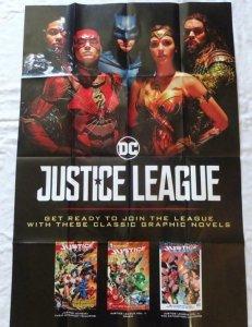 JUSTICE LEAGUE  Promo poster, 24 x 36, 2017, DC BATMAN WONDER WOMEN SUPERMAN 018