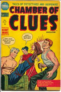 Chamber of Clues #27 1955-Kerry Drake-last pre-code issue-Powell-VG