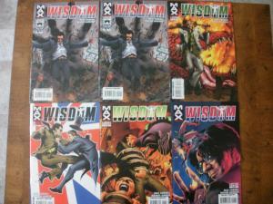 6 MAX Limited Series Comic Book: WISDOM #1 #2 (2) #3 #5 #6